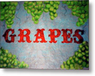 Grapes Metal Print by Lisa Stanley