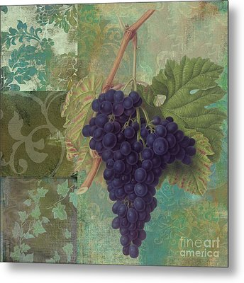 Grapes Margaux Metal Print by Mindy Sommers