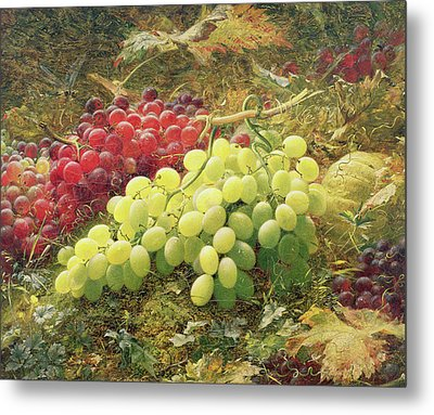 Grapes Metal Print by William Jabez Muckley