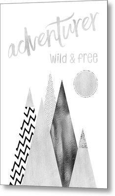 Graphic Art Adventurer - Wild And Free Metal Print