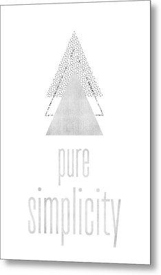 Graphic Art Pure Simplicity - Silver Metal Print