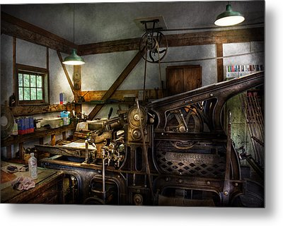 Graphic Artist - Master Press Metal Print by Mike Savad