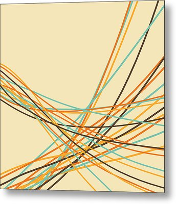 Graphic Line Pattern Metal Print