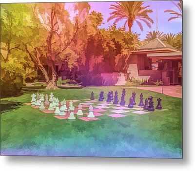 Metal Print featuring the photograph Graphic Rainbow Chess At The Biltmore by Aimee L Maher Photography and Art Visit ALMGallerydotcom