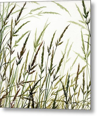 Metal Print featuring the painting Grass Design by James Williamson