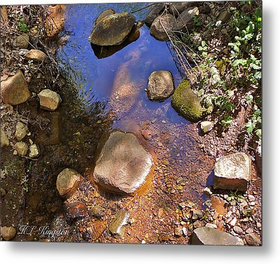 Grass Valley Creek Ca Metal Print by K L Kingston