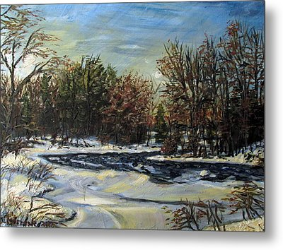 Grasse River In January Metal Print by Denny Morreale