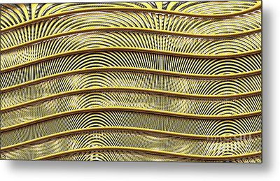 Grate Of Yellow Metal Print by Ron Bissett