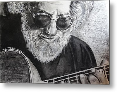 Metal Print featuring the drawing  Grateful Dude by Eric Dee