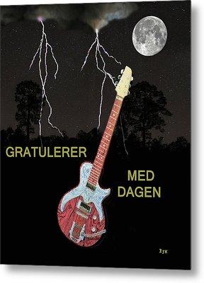 Gratulerer Med Dagen Metal Print