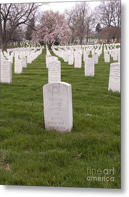 Grave Markers In Arlington National Cemetery Metal Print by Tim Grams