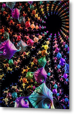 Metal Print featuring the digital art Gravitational Pull by Kathy Kelly
