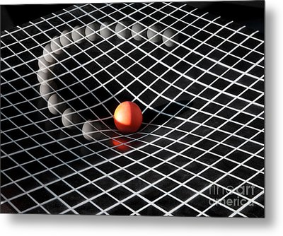 Gravity Simulation Metal Print by Ted Kinsman