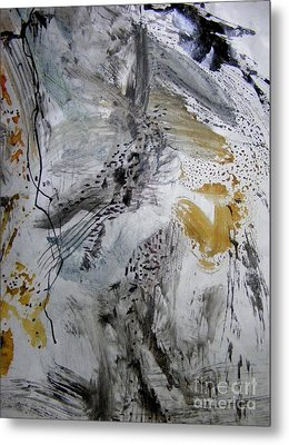 Gray And Gold Upended Metal Print by Nancy Kane Chapman