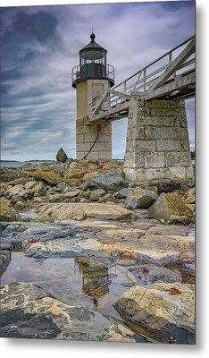 Metal Print featuring the photograph Gray Day At Marshall Point by Rick Berk