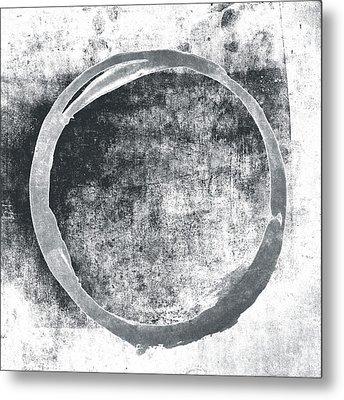 Gray Enso Metal Print