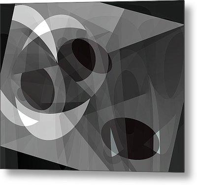 Metal Print featuring the digital art Gray On Gray by Lynda Lehmann