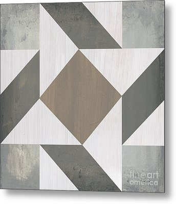 Metal Print featuring the painting Gray Quilt by Debbie DeWitt