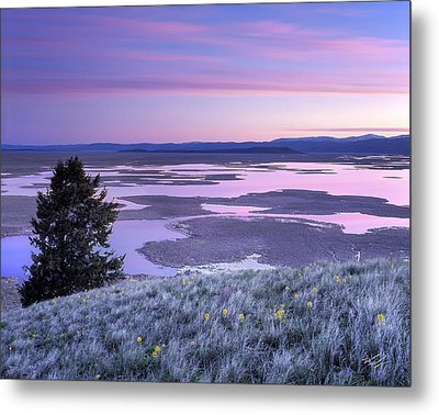Grays Lake Sunrise Metal Print by Leland D Howard