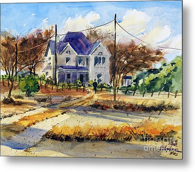 Grayson County Farmhouse Metal Print