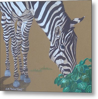 Grazing At The Salad Bar Metal Print