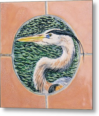 Great Blue Heron Metal Print by Dy Witt
