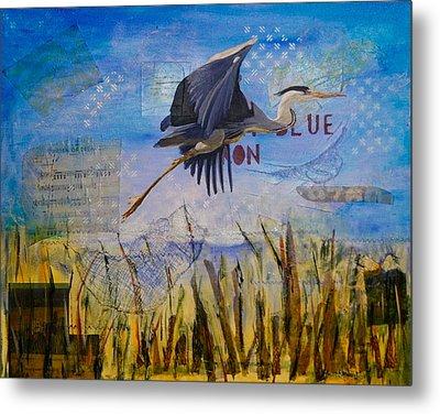 Great Blue Heron Metal Print by Terry Honstead