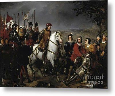 Great Captain Gonzalo De Cordoba After The Battle Of Cerignola Metal Print by Celestial Images