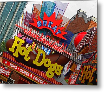 Great Charbroiled Hot Dogs Metal Print by Elizabeth Hoskinson