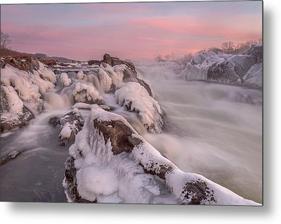 Potomac River Great Falls Virginia Metal Print by Rick Dunnuck