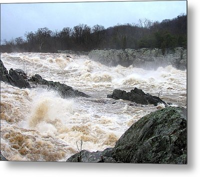 Great Falls Torrent Metal Print