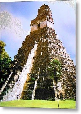 Great Jaguar Temple Of Tikal Metal Print