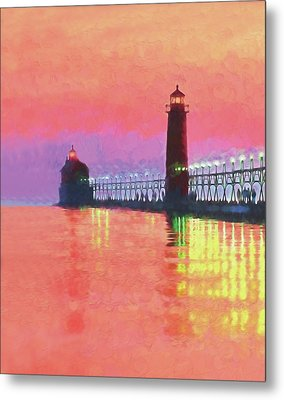 Great Lakes Light Metal Print