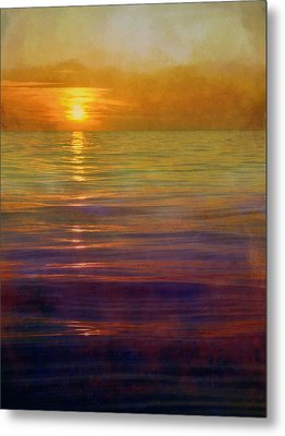 Great Lakes Setting Sun Metal Print by Michelle Calkins
