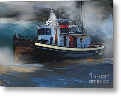 Great Lakes Tugboat Metal Print by Bob Salo