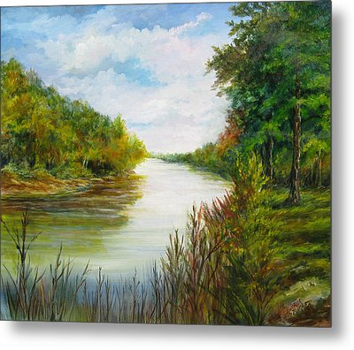 Metal Print featuring the painting Great Pee Dee River Sold by Gloria Turner