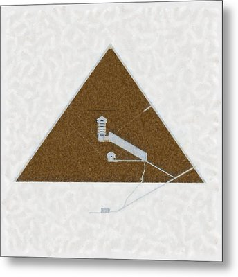 Great Pyramid By Pierre Blanchard Metal Print