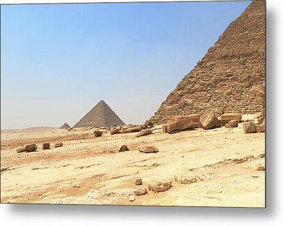 Metal Print featuring the photograph Great Pyramids Of Gizah by Silvia Bruno