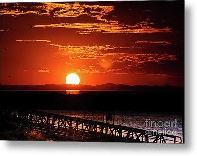 Great Salt Lake Sunset Metal Print