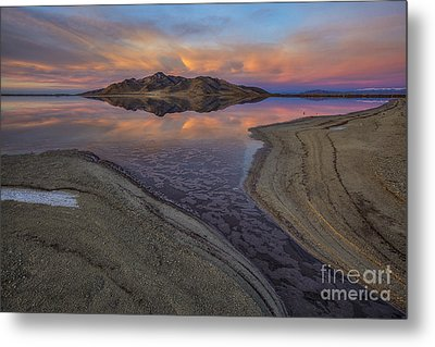 Metal Print featuring the photograph Great Salt Lake Sunset by Spencer Baugh