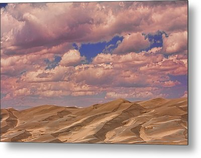 Great Sand Dunes And Great Clouds Metal Print by James BO  Insogna