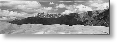 Great Sand Dunes Panorama 1 Bw Metal Print by James BO  Insogna