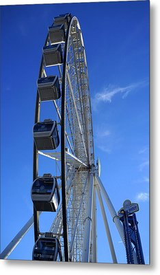 Great Smoky Mountain Wheel Metal Print by Laurie Perry