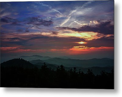 Metal Print featuring the photograph Great Smoky Sunsets by Jessica Brawley
