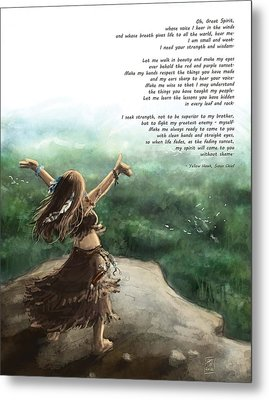 Great Spirit Prayer Metal Print by Brandy Woods