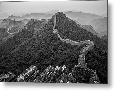 Metal Print featuring the photograph Great Wall 2, Jinshanling, 2016 by Hitendra SINKAR