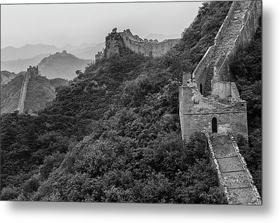 Metal Print featuring the photograph Great Wall 3, Jinshanling, 2016 by Hitendra SINKAR