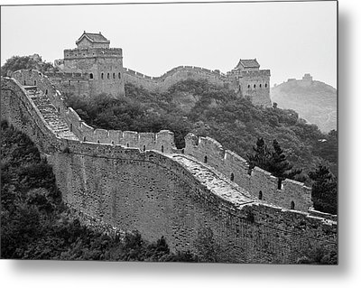 Metal Print featuring the photograph Great Wall 8, Jinshanling, 2016 by Hitendra SINKAR