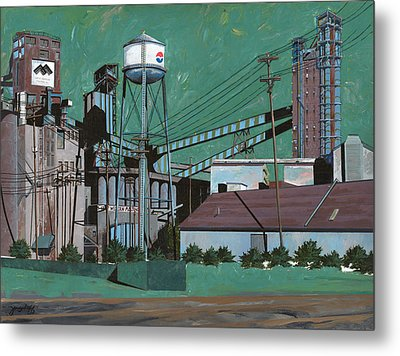 Great Western Malting Metal Print by John Wyckoff