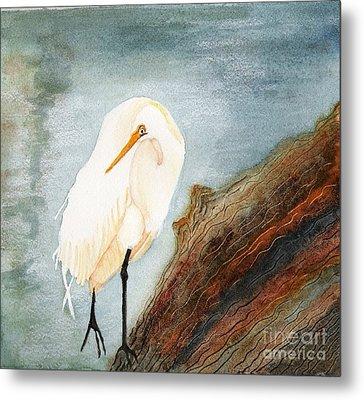 Great White Egret Metal Print by Georgia Johnson